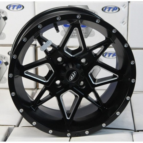 Диски для квадроцикла   ITP TORNADO 14x7 4/137 5+2 Matte Black with milled